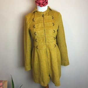 NANETTE LEPORE Gold Yellow Sparkle Giltter Jacket